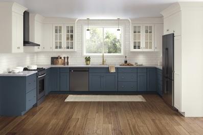 رنگ آبی و سفید، رنگ کابینت آشپزخانه 2020