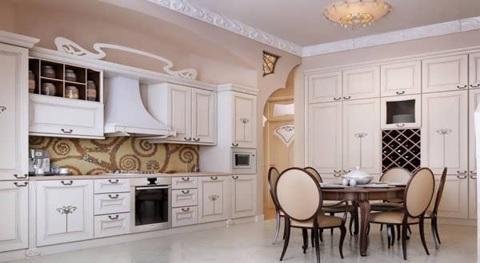 طراحی خاص کابینتها باعث جذابیت بیشتر دکوراسیون آشپزخانه میشود.