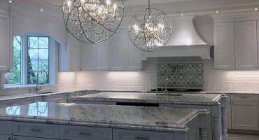ایده های کابینت آشپزخانه دو رنگ