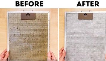 تمیز شدن فیلتر های قابل شستشو بعد از شستشو ؛ تفاوت را احساس کنید .