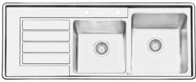 سینک ظرفشویی ایلیا استیل